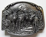 Pewter Burro Belt Buckle