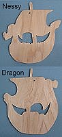 Wooden Viking Ship Ornaments
