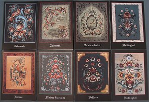 Rosemaling Note Cards