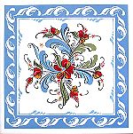 Sonja Rose Blue Art Tile